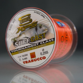 Морская Леска Trabucco S-FORCE XPS SURF CASTING 0,228 / 6,46 кг / 300 м