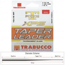 Шок-лидер Trabucco T-FORCE Taper Leader 0,26-0,57 мм (15 м, 10 шт)