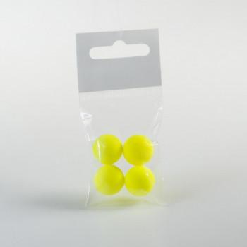 Шамат 15 мм кислотно-жёлтого цвета (4 шт) на пеленгаса