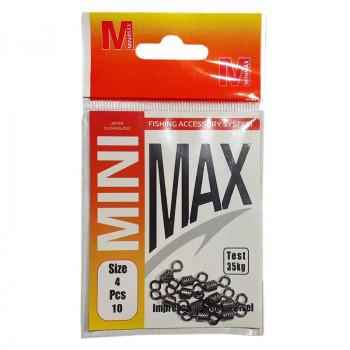 Вертлюжки MiniMax №4, 35 кг, 10 шт