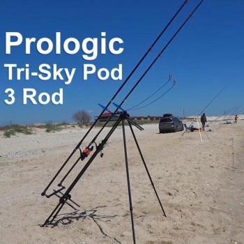 Род под Prologic Tri-Sky Pod 3 Rod для морской рыбалки на Пеленгаса