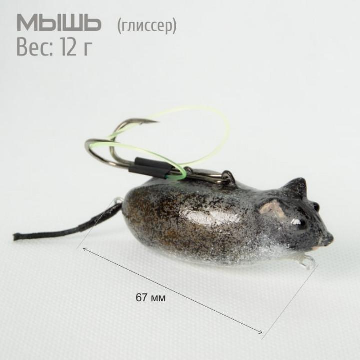 Воблер мышь с незацепляйкой  для ловли щуки среди кувшинок и камышей