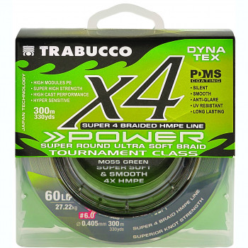 Шнур Trabucco X4 Power 150м 0,063мм 2,72кг Болотно-зеленый (054-33-060)